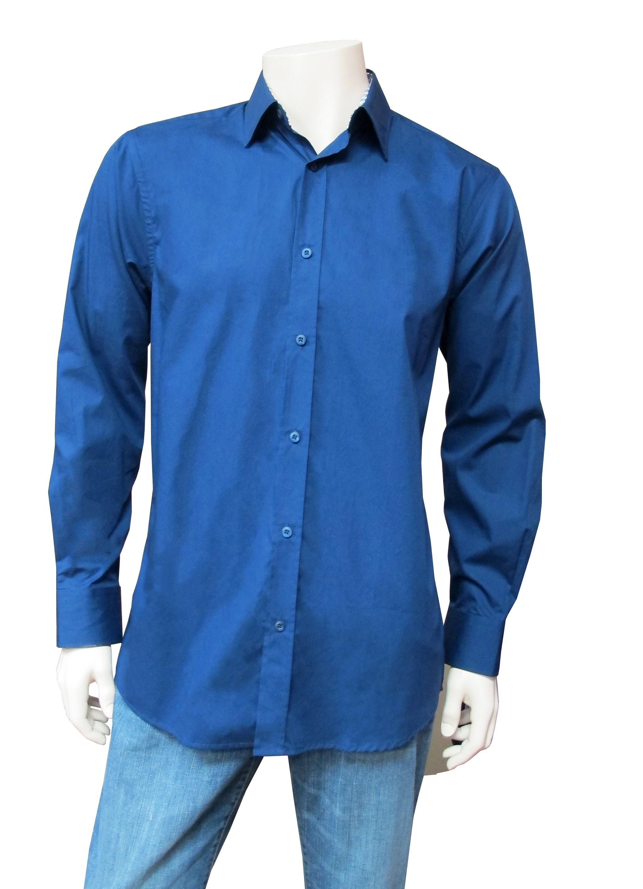 Men's Dress Shirt with Contrast