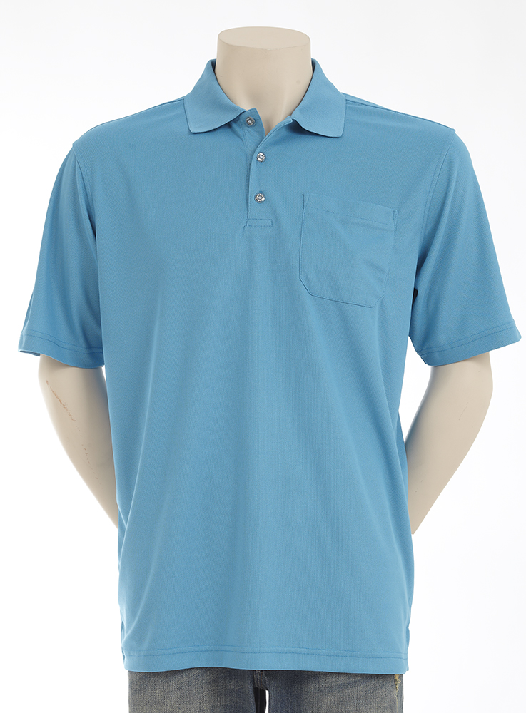 Mens Pique Polo with Chest Pocket