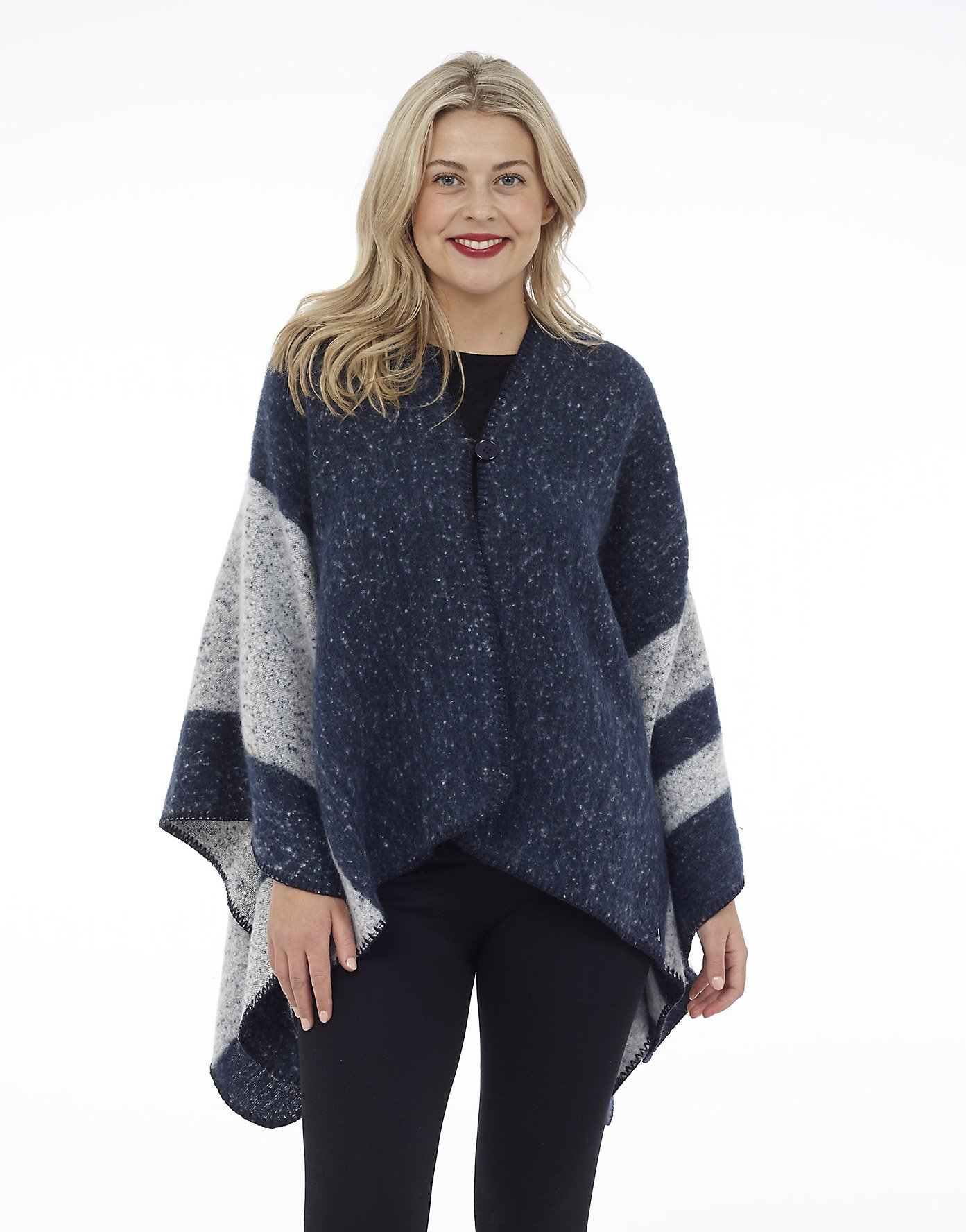 Reversible Cape with Button Closure