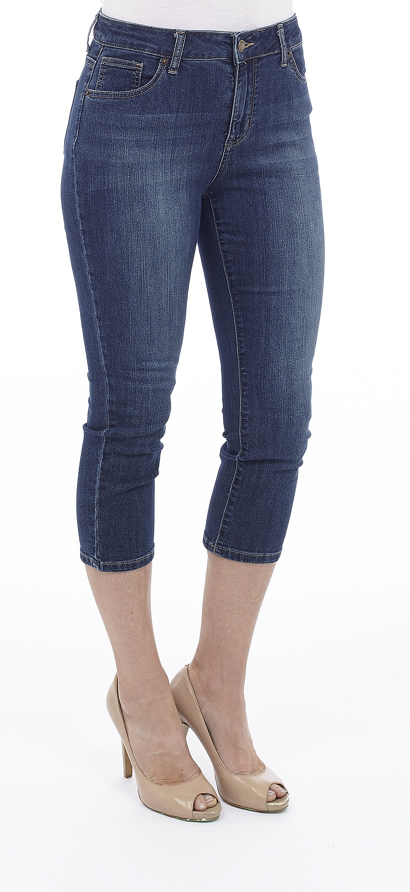 MISSY HIGH RISE Stretch Denim Capri